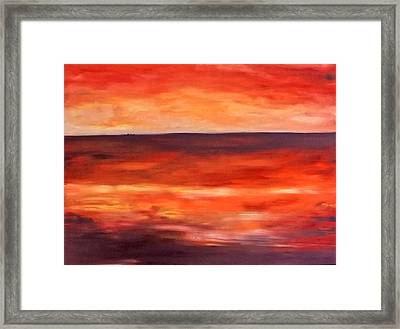 Across The Bay Framed Print by Peter Edward Green