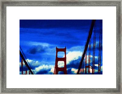 Framed Print featuring the digital art Across The Deep by Holly Ethan