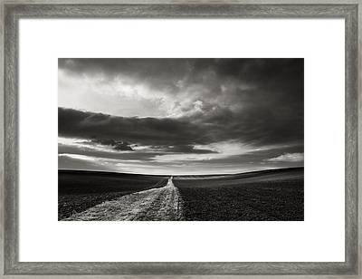 Across The Field  Framed Print by Jaromir Hron