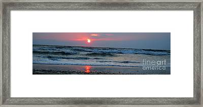 Framed Print featuring the photograph Across The Sea by Linda Mesibov