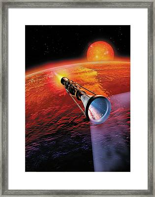 Across The Sea Of Suns Framed Print by Don Dixon