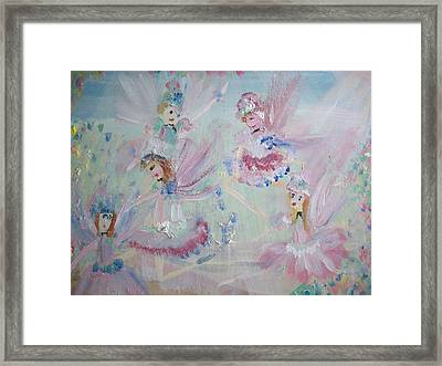 Act  Two Fairies Framed Print by Judith Desrosiers