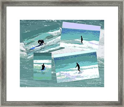 Action Surfing Print Framed Print