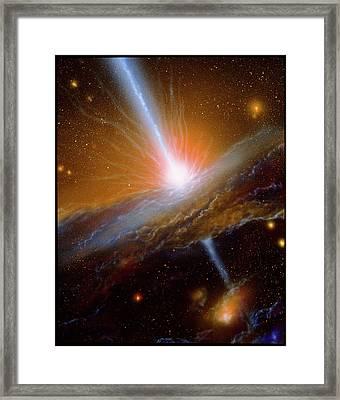 Active Galaxy M87 Framed Print by Julian Baum