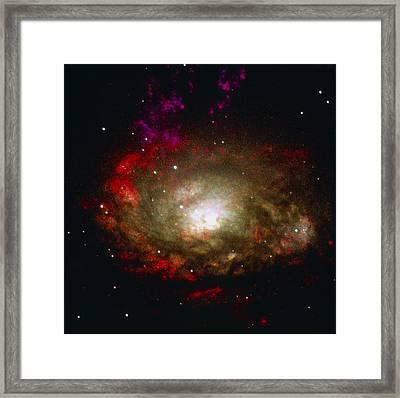 Active Galaxy Framed Print by Nasaesastscia.wilson, Umd, Et Al.