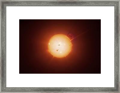 Active Sun, Artwork Framed Print by Detlev Van Ravenswaay