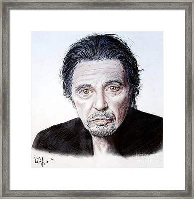 Actor And Director Al Pacino  Framed Print by Jim Fitzpatrick