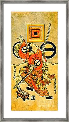 Actor Ichikawa Monnosuke 1736 Framed Print
