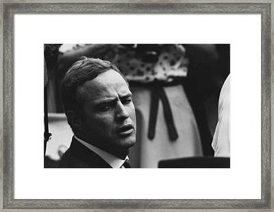 Actor Marlon Brando At The 1963 Civil Framed Print
