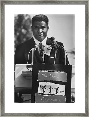 Actor Ossie Davis At The 1963 Civil Framed Print by Everett
