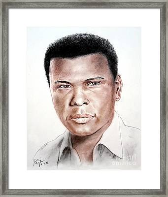 Actor Sidney Poitier Framed Print by Jim Fitzpatrick