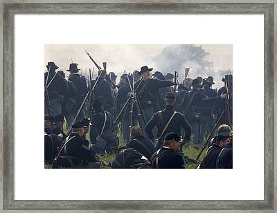 Actors Dressed As Union Soldiers Framed Print by Pete Ryan