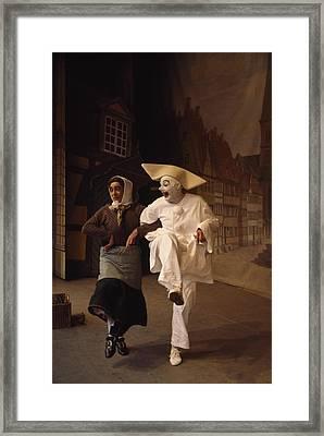 Actors Perform Pantomimes At Tivoli Framed Print by Sisse Brimberg