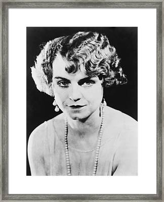 Actress Dorothy King Was A Broadway Framed Print by Everett