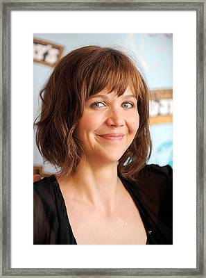 Actress Maggie Gyllenhaal At The Press Framed Print by Everett