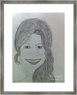 Actress Zoe S. Framed Print by Charita Padilla