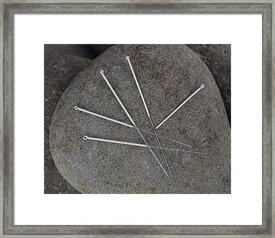 Acupuncture Needles Framed Print by Sheila Terry