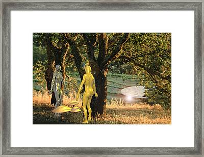 Adam And Eve Framed Print
