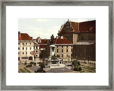 Adam Mickiewicz Monument In Krakow - Poland Framed Print by International  Images