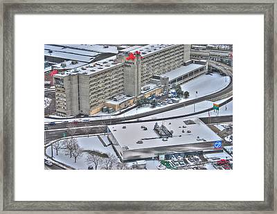 Adams Mark And Ch7 In Winters Blanket Framed Print by Michael Frank Jr
