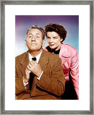 Adams Rib, From Left Spencer Tracy Framed Print