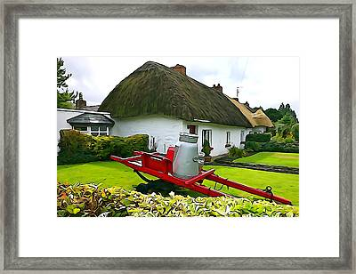 Framed Print featuring the photograph Adare Cottage by Charlie and Norma Brock