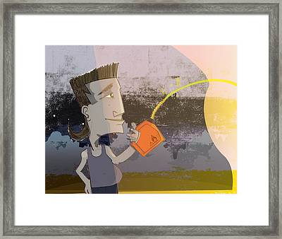 Add Fuel To The Fire Framed Print