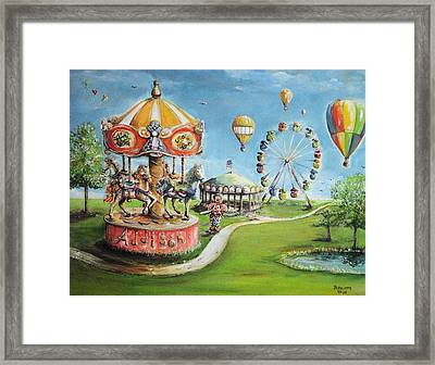 Framed Print featuring the painting Carnival by Bernadette Krupa