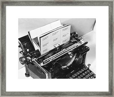 Address Labels Framed Print by Archive Photos