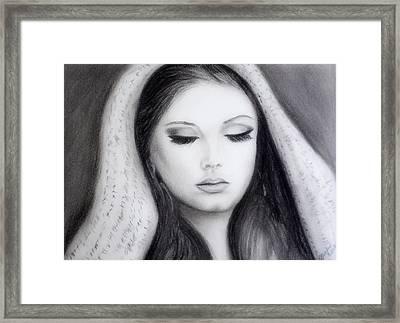 Adele Framed Print by Gina Cordova
