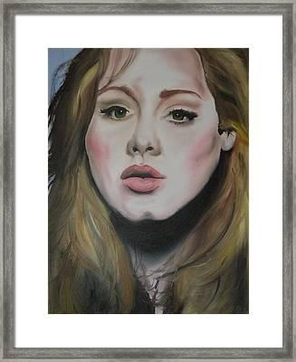 Adele Framed Print by Matt Burke