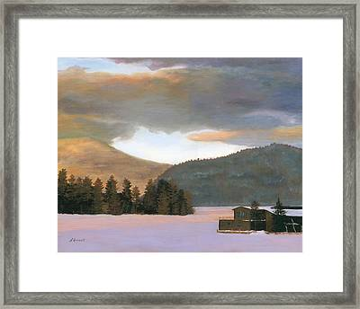 Adirondack Morning Framed Print by Lynne Reichhart