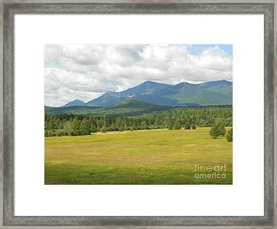 Adirondack Mountains Framed Print