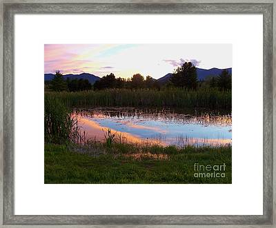 Adirondack Reflection 1 Framed Print by Peggy Miller