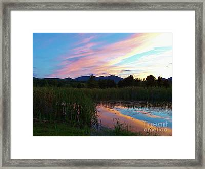 Adirondack Reflections 2 Framed Print by Peggy Miller