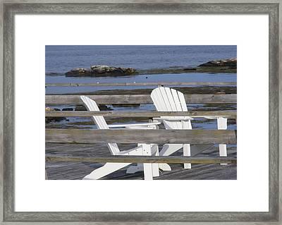 Adirondack Relaxin' Framed Print by Carol Bruno
