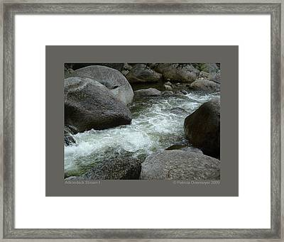 Framed Print featuring the photograph Adirondack Stream-i by Patricia Overmoyer