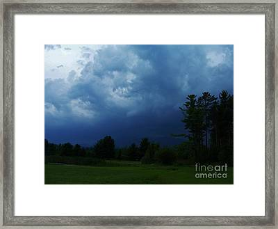 Adirondack Thunderstorm Framed Print by Peggy Miller