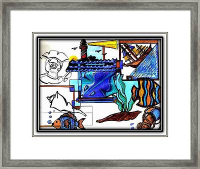 Framed Print featuring the drawing Admiral by Danielle  Parent