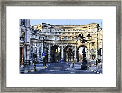 Admiralty Arch In Westminster London Framed Print by Elena Elisseeva