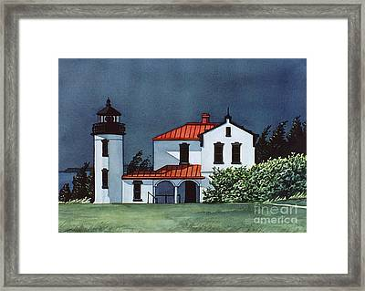 Admiralty Head Light Framed Print