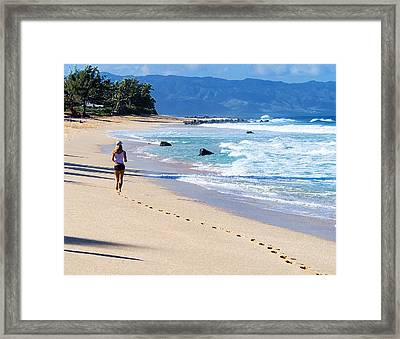 Admiring The View Framed Print by Ron Regalado