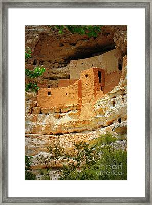 Adobe Cliff Dwelling Framed Print