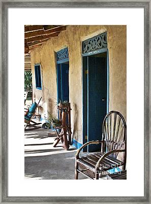 Adobe House In Panama Framed Print by Heiko Koehrer-Wagner