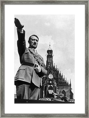 Adolf Hitler At Reichsparteitag, 1934 Framed Print by Everett