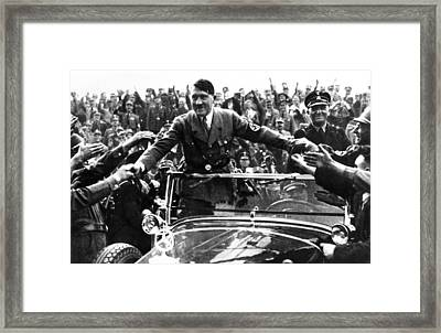 Adolph Hitler, Like Most Politicians Framed Print by Everett