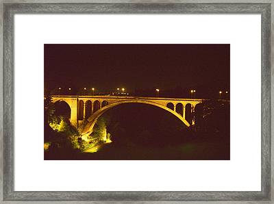 Framed Print featuring the photograph Adolphe Bridge  by Dennis Lundell