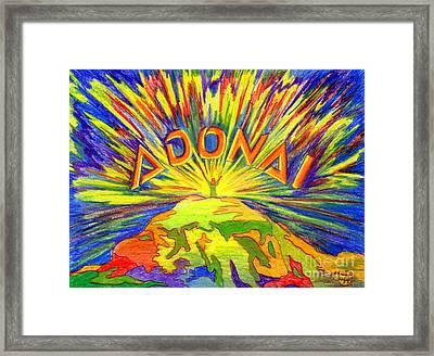 Adonai Framed Print by Nancy Cupp