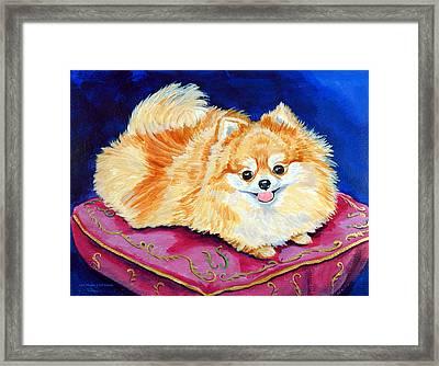 Adoration - Pomeranian Framed Print