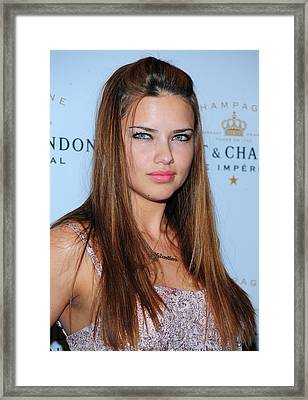 Adriana Lima At Arrivals For First Framed Print